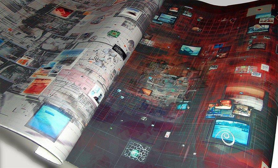 (left) Detail - Infoscan3 and (right) All that is Solid... Printed on Somerset archival paper Both prints were commissioned by London Print Studio for Filament exhibition 2006, curated by James Faure Walker