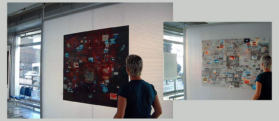 (left) All that is Solid (right) Infoscan 3 Installation view: Filament exhibition, London Print Studio gallery, London 2006