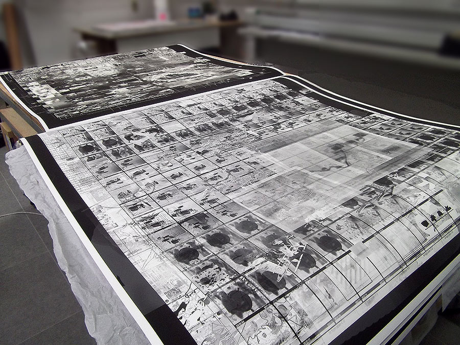 [5ways] Filmstrip_4 2012 Just printed on hahnemule archival paper in the digital studio at London Print Studio