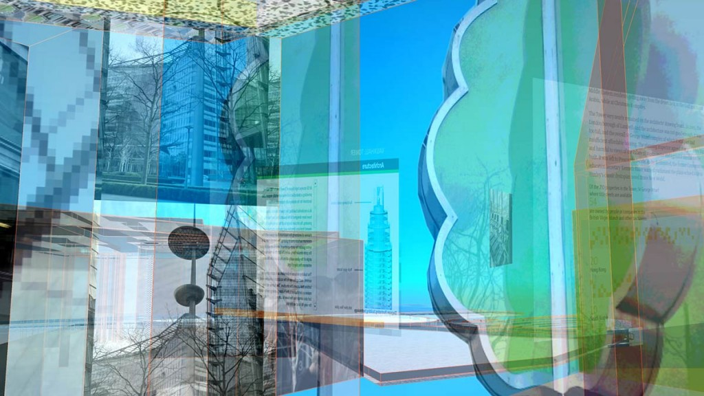 Sandra Crisp: remote city (skygardens_towers) Video still 5